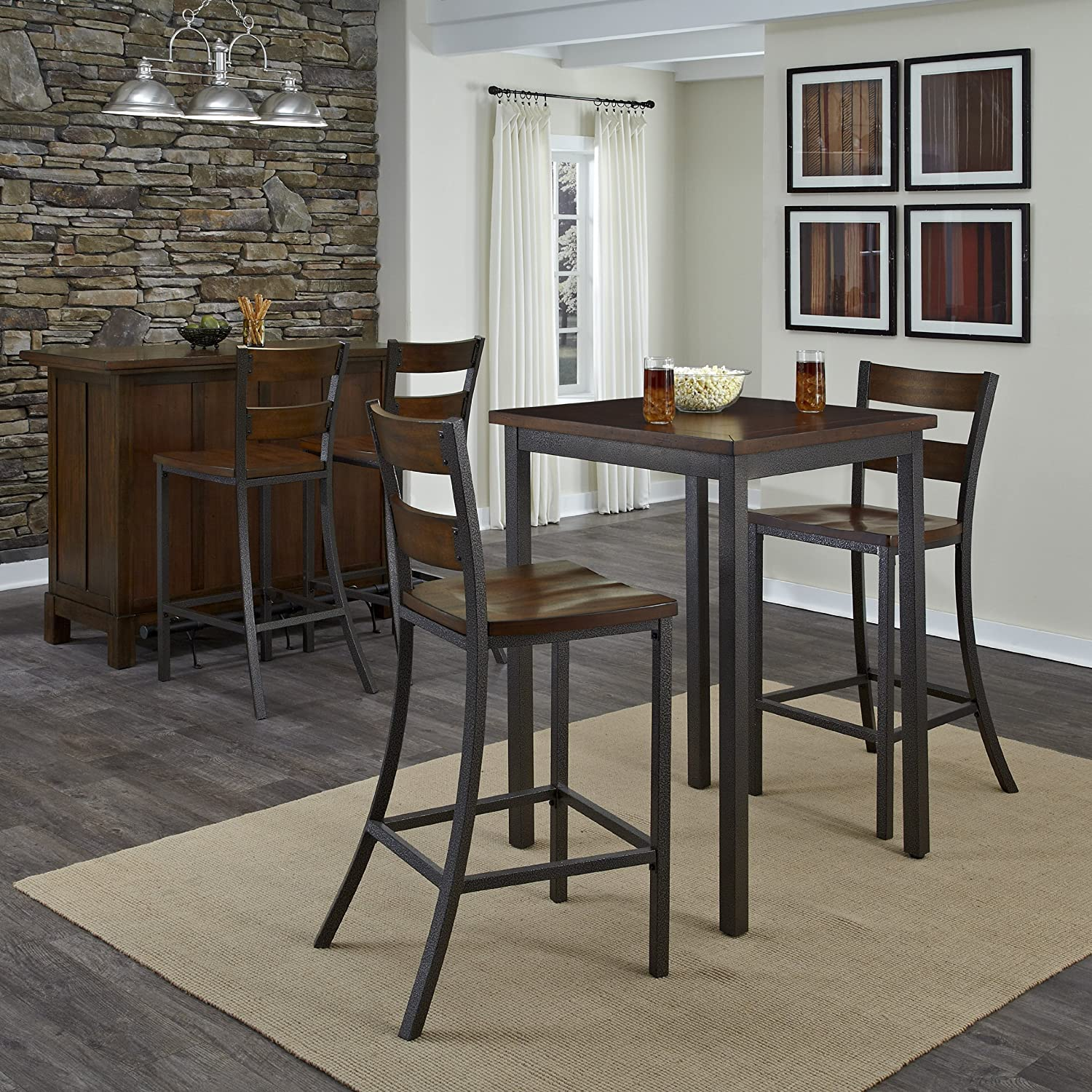 amazoncom home styles  cabin creek bistro table kitchen  dining. amazoncom home styles  cabin creek bistro table kitchen