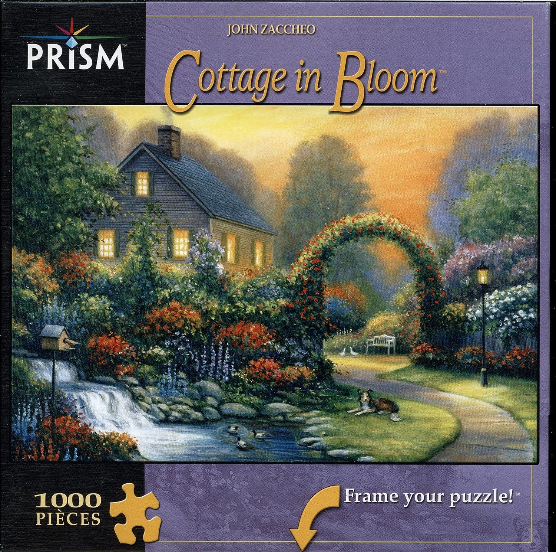 Reducción de precio John Zaccheo - Cottage in Bloom - 1000 Piece Puzzle by Prism Puzzles  Games