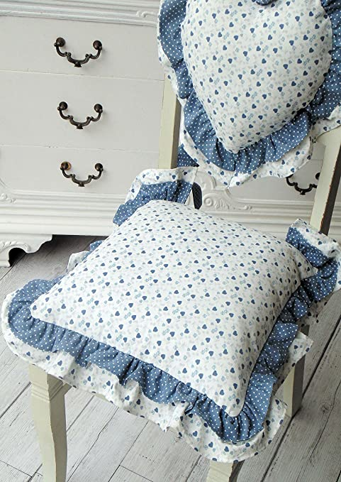 Cuscino per sedia Angelica Home & Country Collezione Cuori Oceano ...