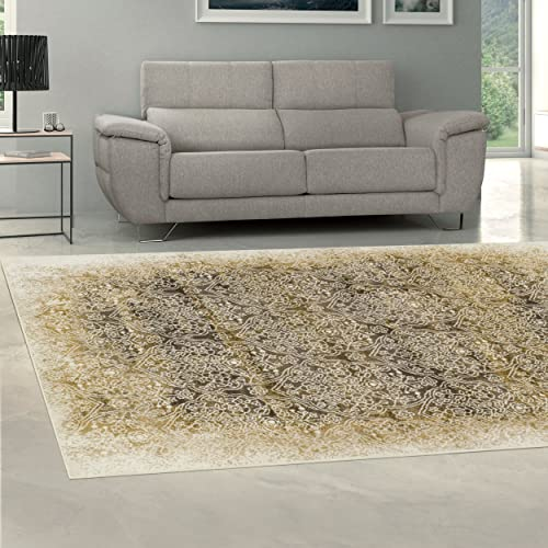Superior Quality Soft, Plush and Durable 10mm Moisture and Mildew Resistant Apollonia Collection Area Rug, 5 x 8 Camel