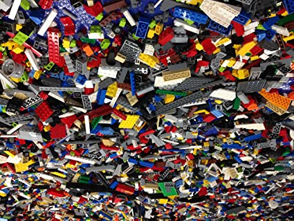 100/% Genuine Lego 2 LB Pound Lot Parts and Pieces Bricks Cleaned Gently Used