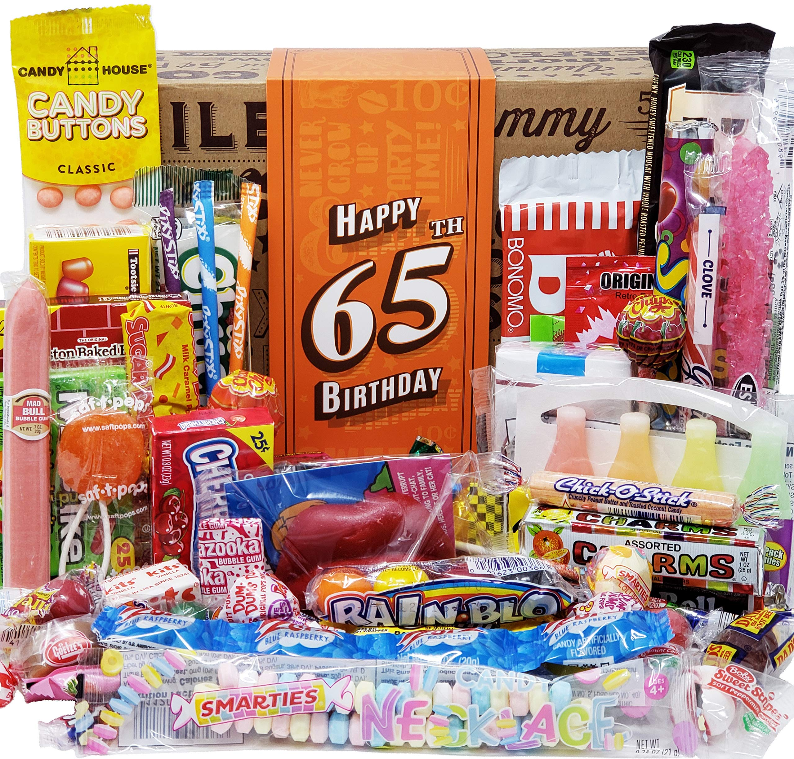 VINTAGE CANDY CO 65TH BIRTHDAY CANDY GIFT FOR MAN WOMAN
