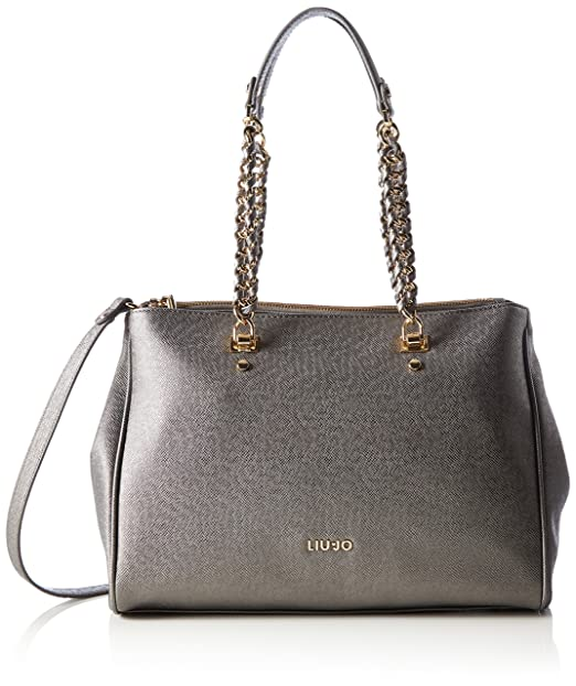 c65d120994 Borsa shopping Liu Jo L e/w anna chain gun metal: Amazon.it: Abbigliamento