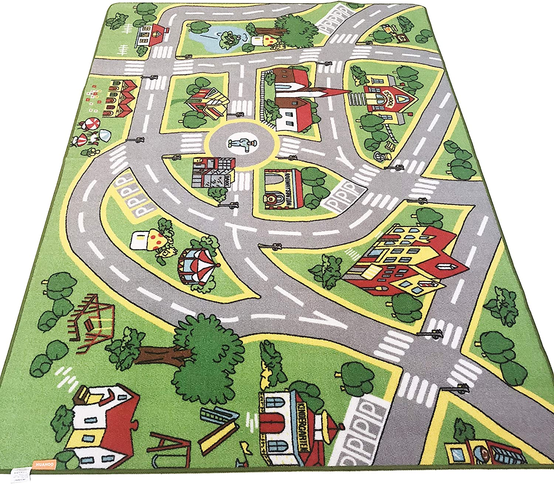 CITY STREET /& ROADS KIDS FUN CAR PLAY RUG 100x150cm NON-SLIP /& WASHABLE **NEW**