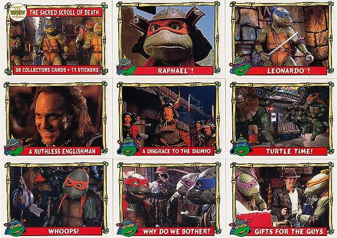 TEENAGE MUTANT NINJA TURTLES MOVIE 3 1992 TOPPS BASE CARD ...