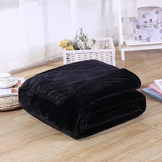 Super Soft Solid Warm Micro Plush Fleece Blanket Throw Rug Sofa Bedding Grace