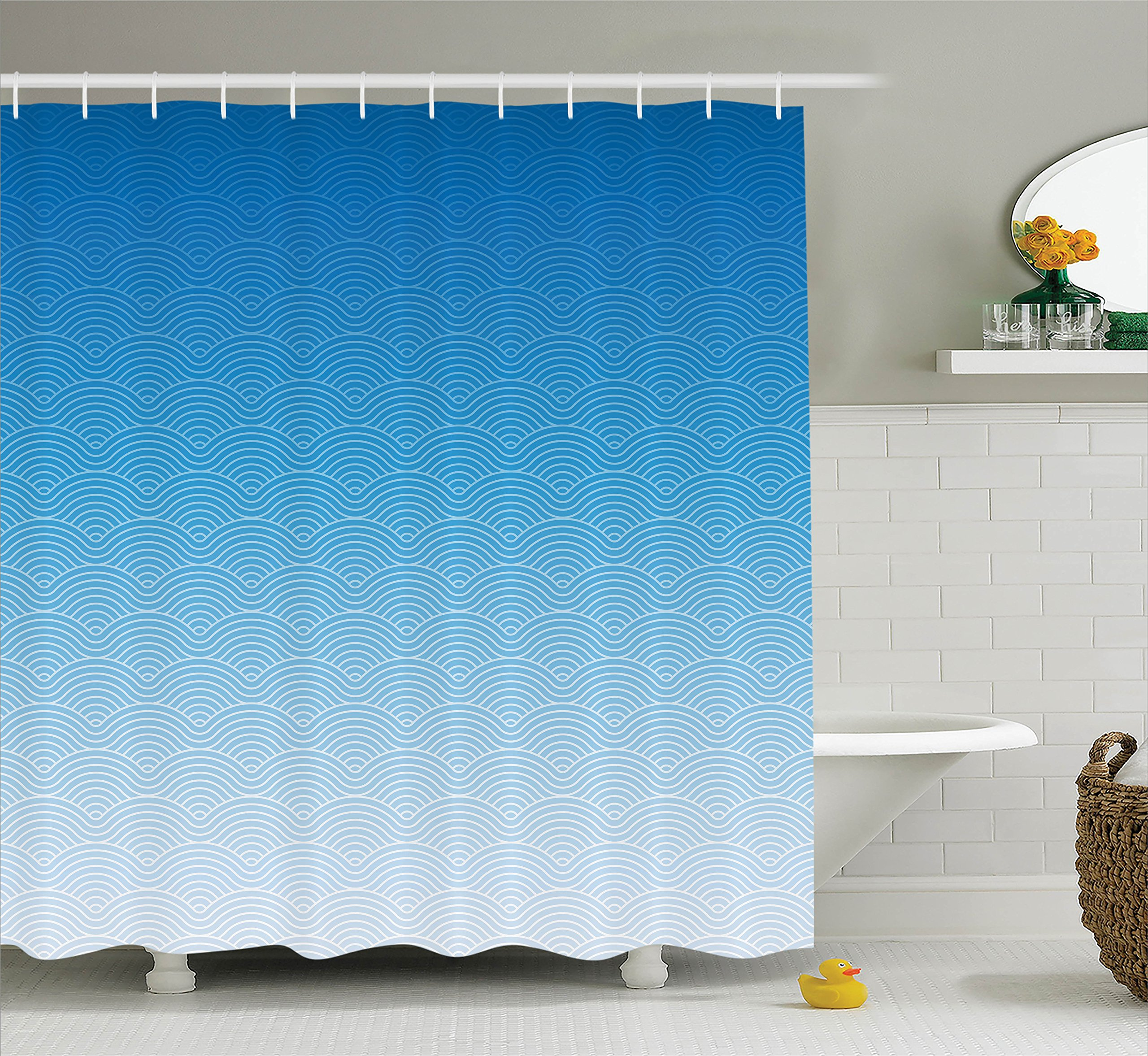 84 Inch Geometric Shower Curtain: Amazon.com