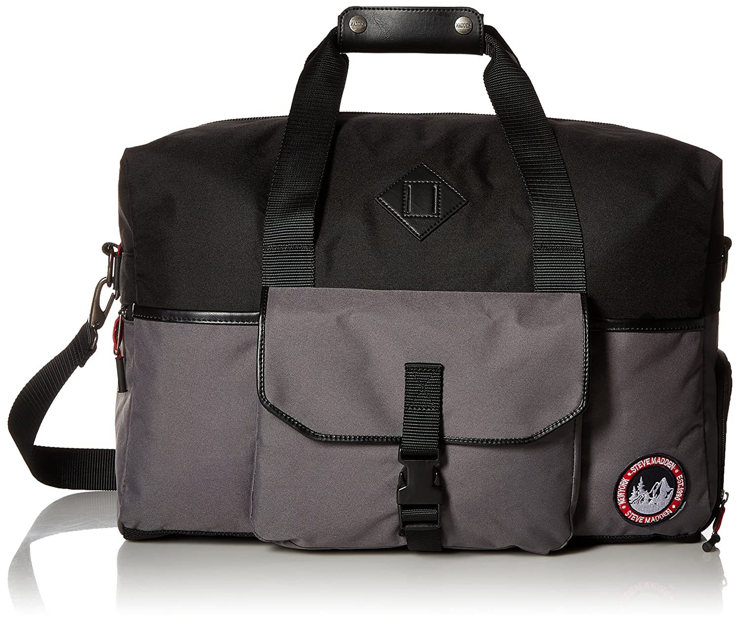 9f7ae1c3d7 Steve Madden Men'S Adventure Duffle, Grey: Amazon.in: Bags, Wallets &  Luggage