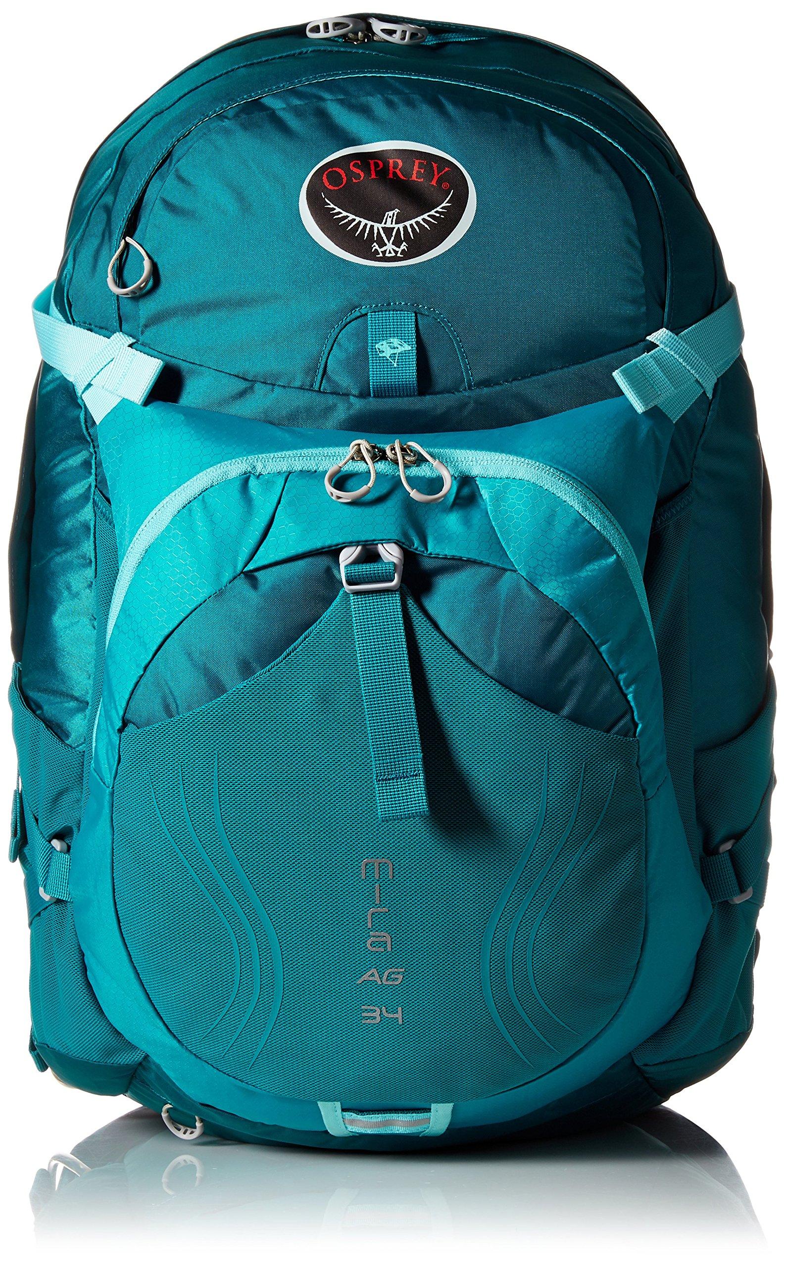 Osprey Packs Women's Mira AG 34 Hydration Pack, Bondi Blue, X-Small/Small