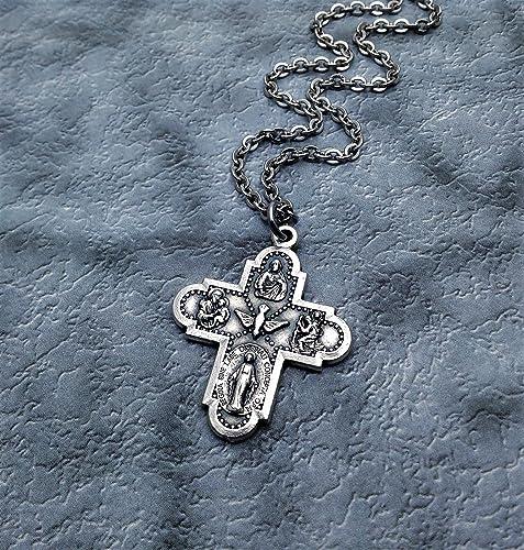Amazon com: Five Way Cross Necklace  Christian Jewelry: Handmade