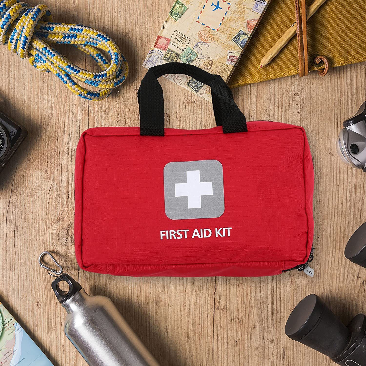 600397af8ec3 Amazon.com  First Aid Kit – 291 Pieces – Bag. Packed with hospital grade  medical supplies for emergency and survival situations. Ideal for the Car