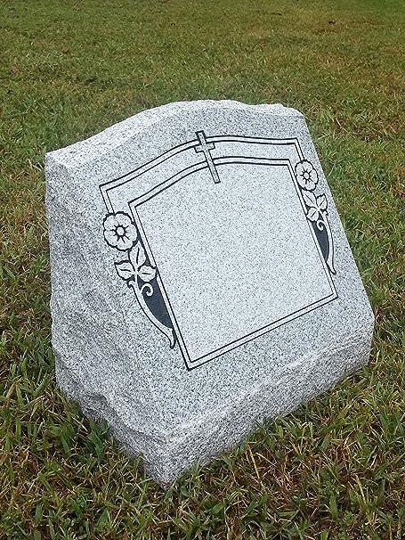 Amazon Com Granite Headstone Memorial Slant 4 Designs Options Garden Outdoor