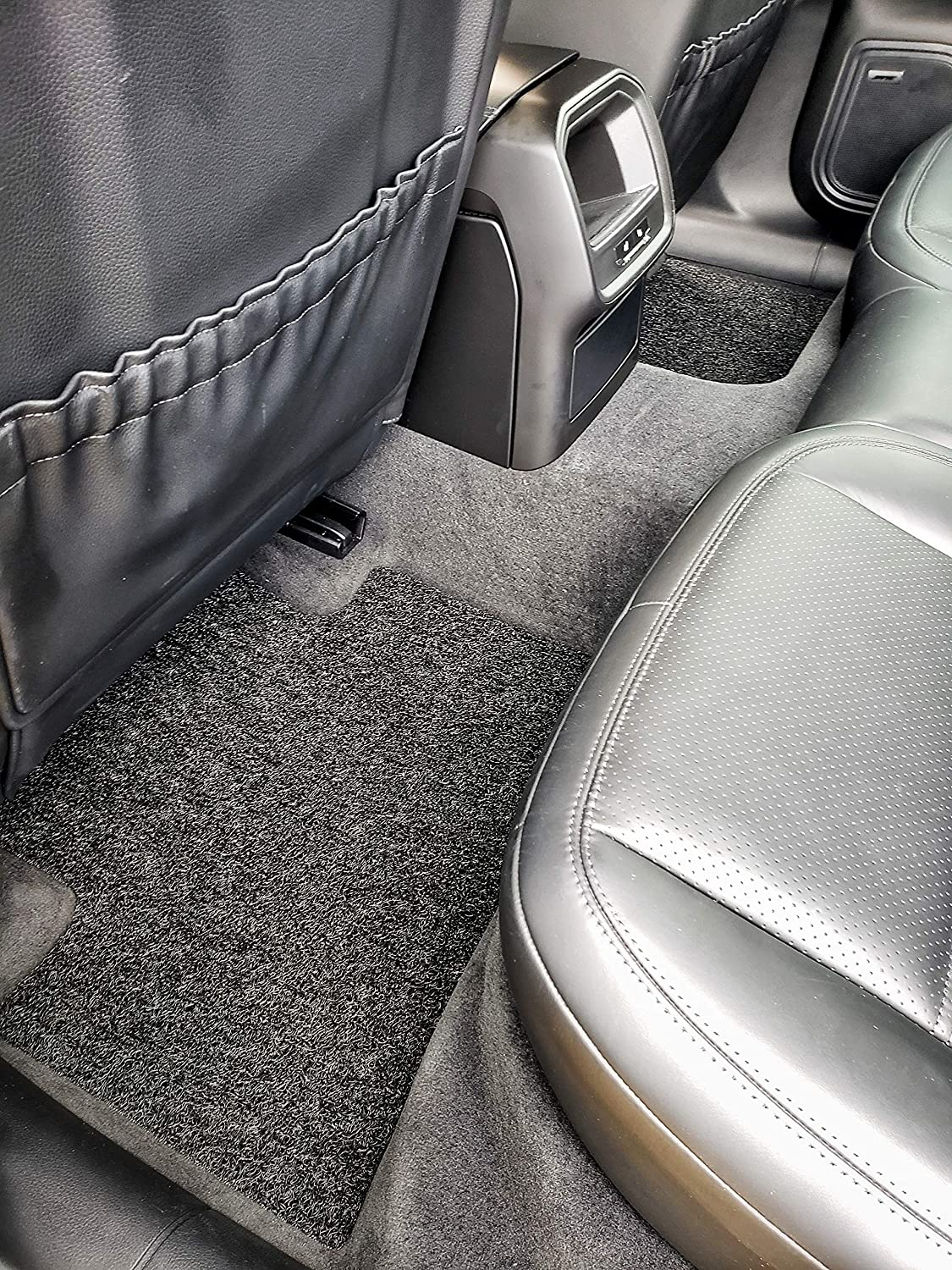 Autotech Zone Heavy Duty Custom Fit Car Floor Mat Compatible with 2018-2019 Nissan Leaf Hatchback Black All Weather Protector 4 Pieces Set