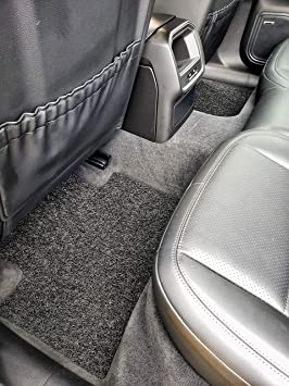 All Weather Protector 4 Piece Set AutoTech Zone Heavy Duty Custom Fit Car Floor Mat for 2007-2016 Jeep Compass SUV Black