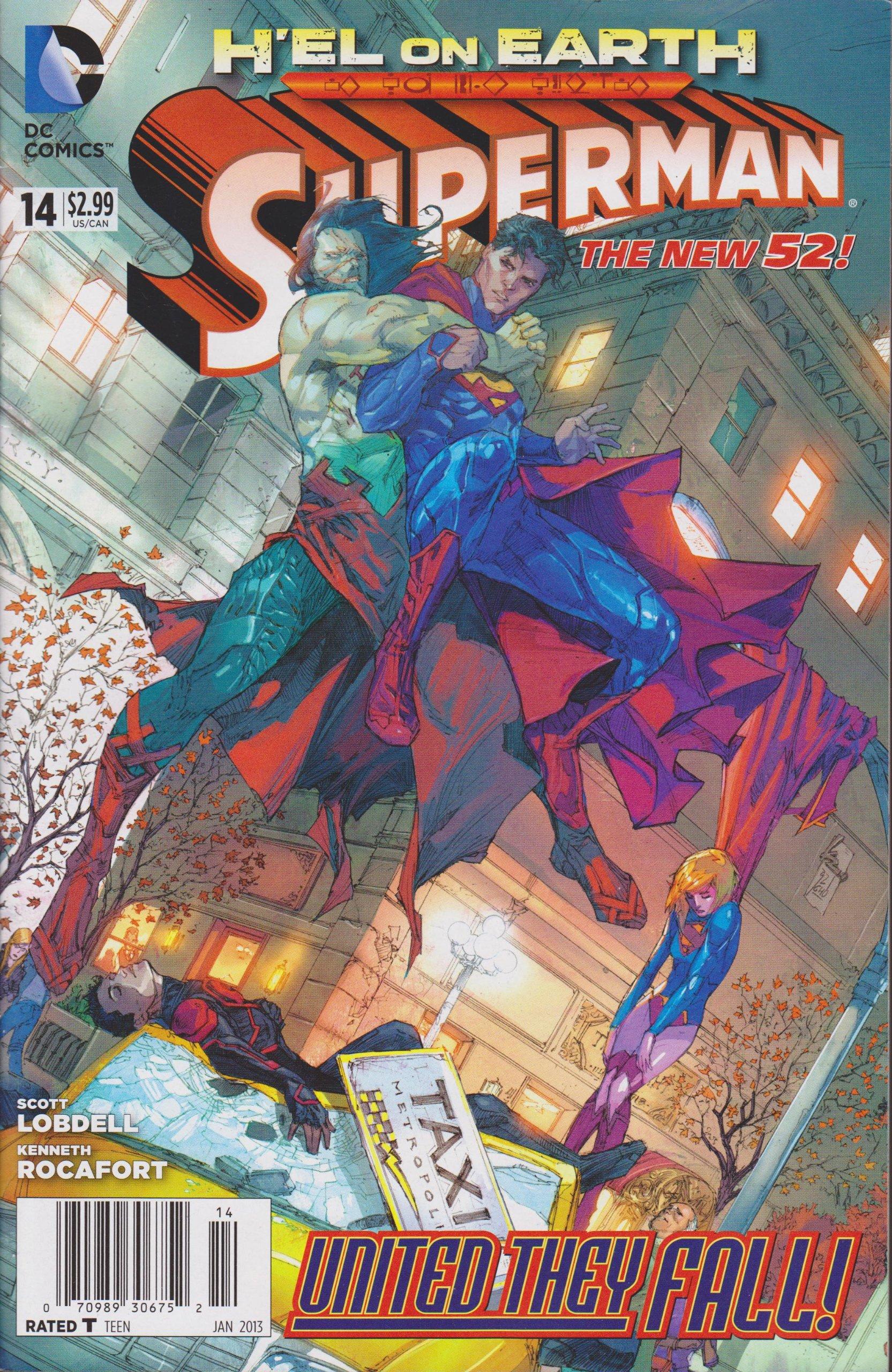 Superman Comic # 14 (H'el on Earth-United They Fall) ebook