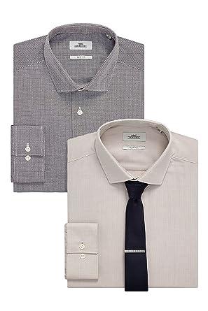 next Hombre Conjunto De 2 Camisas Limpia Y Estampado De Piedra Y ...