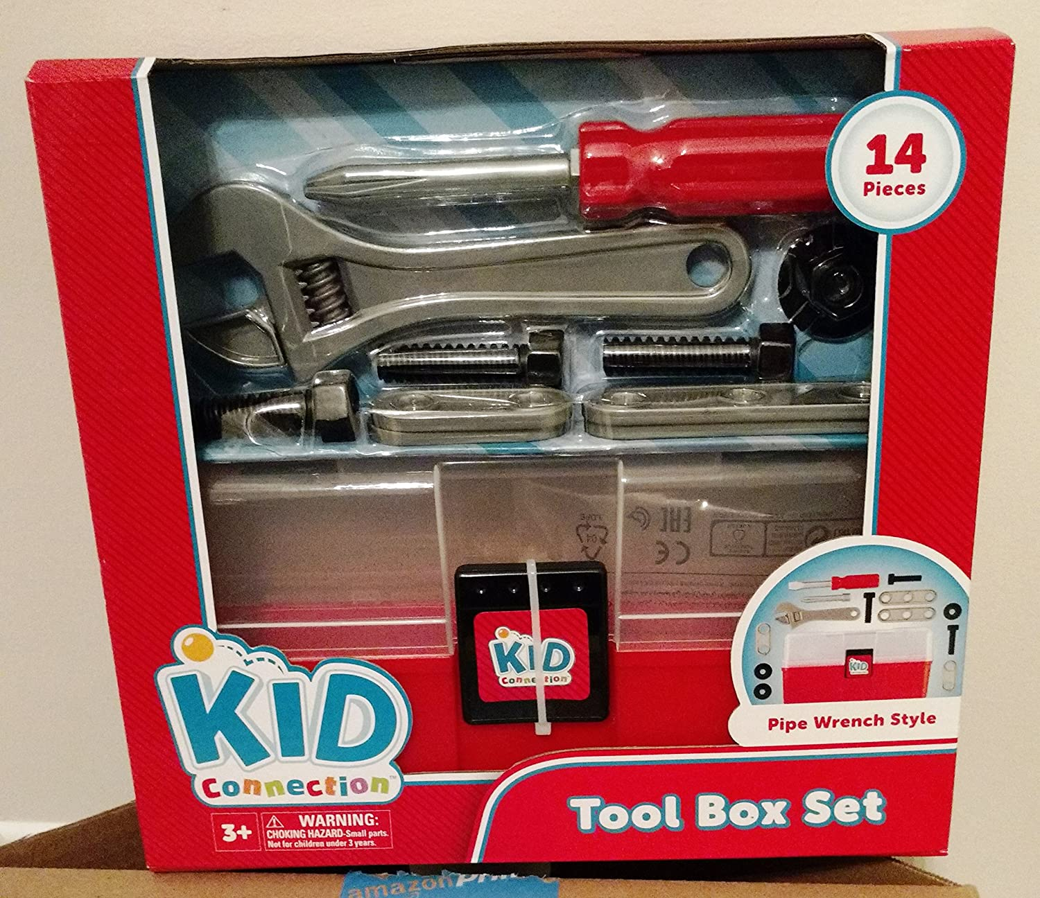 Kid Conection Tool Box set Pipe Wrench Style Made in China
