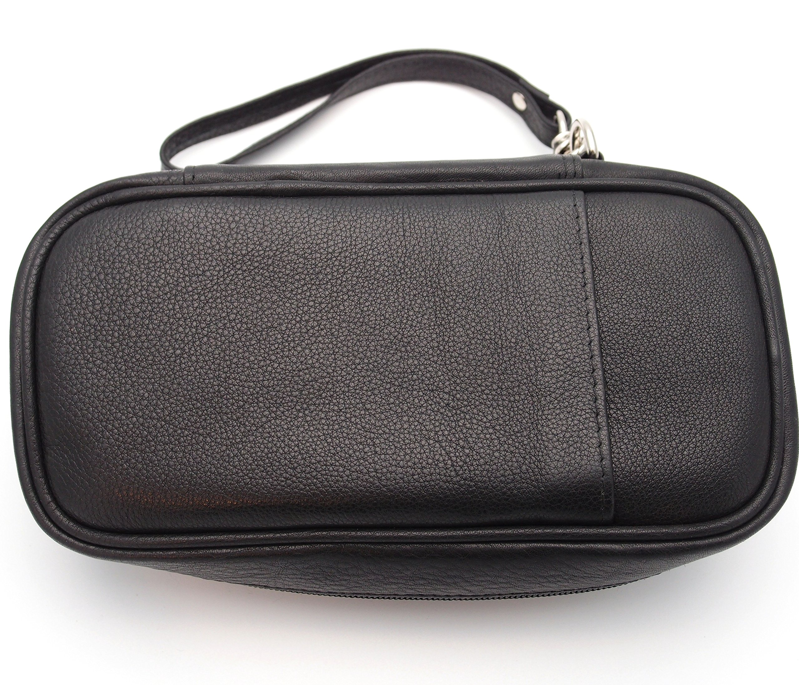 Tobacco Pipe Leather Case - 3 Pipes - Authentic Full Grade Leather - Black by Mr. Brog (Image #5)