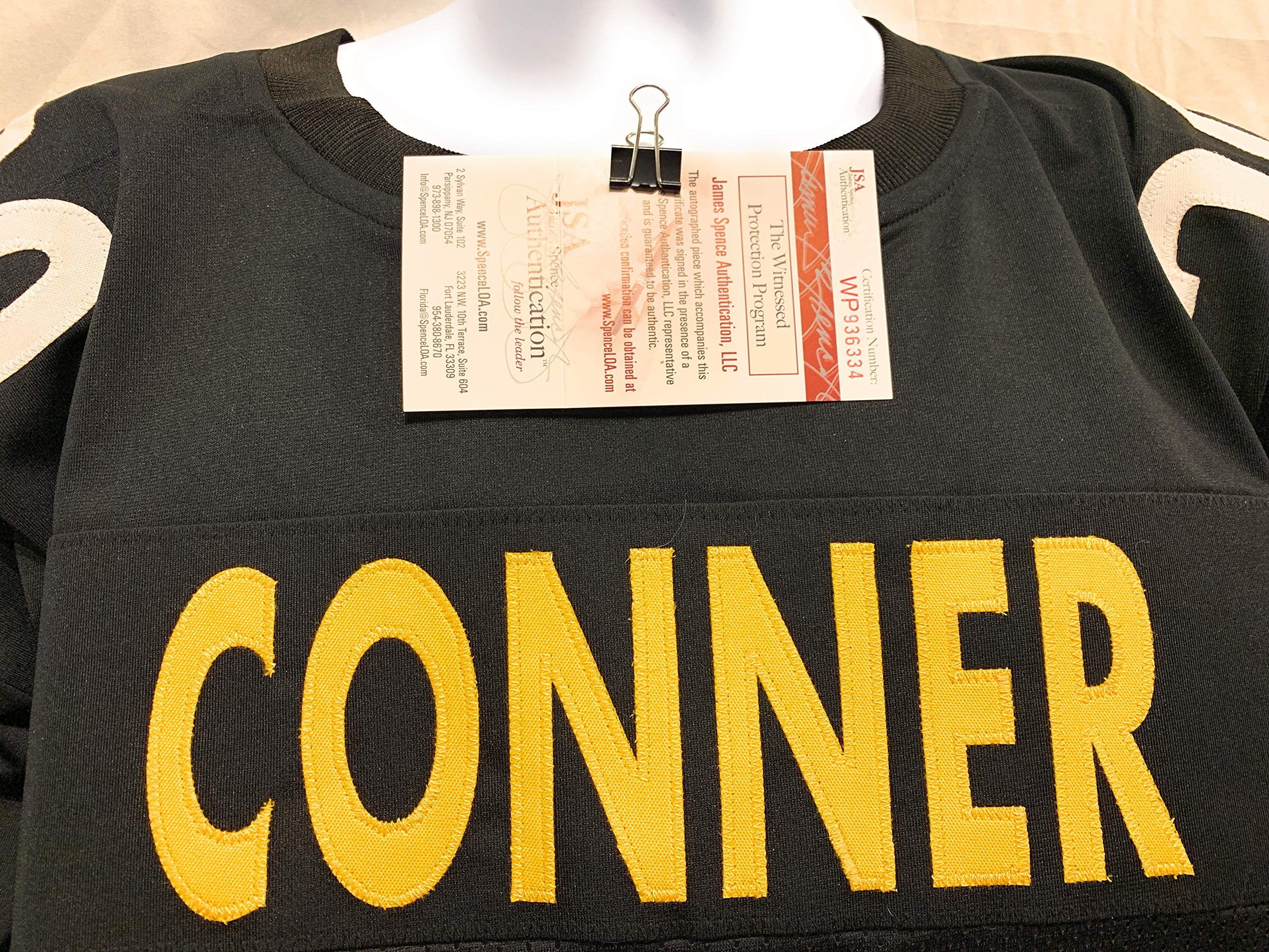 James Conner Pittsburgh Steelers Signed Autograph Black Custom Jersey JSA Witnessed Certified