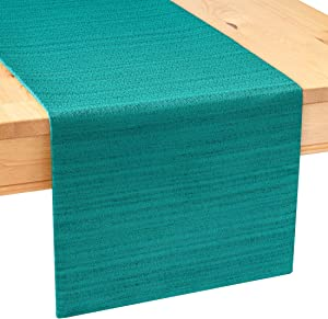 Sweepstakes: The White Petals Dark Teal Side Table Runner (13×36 inch
