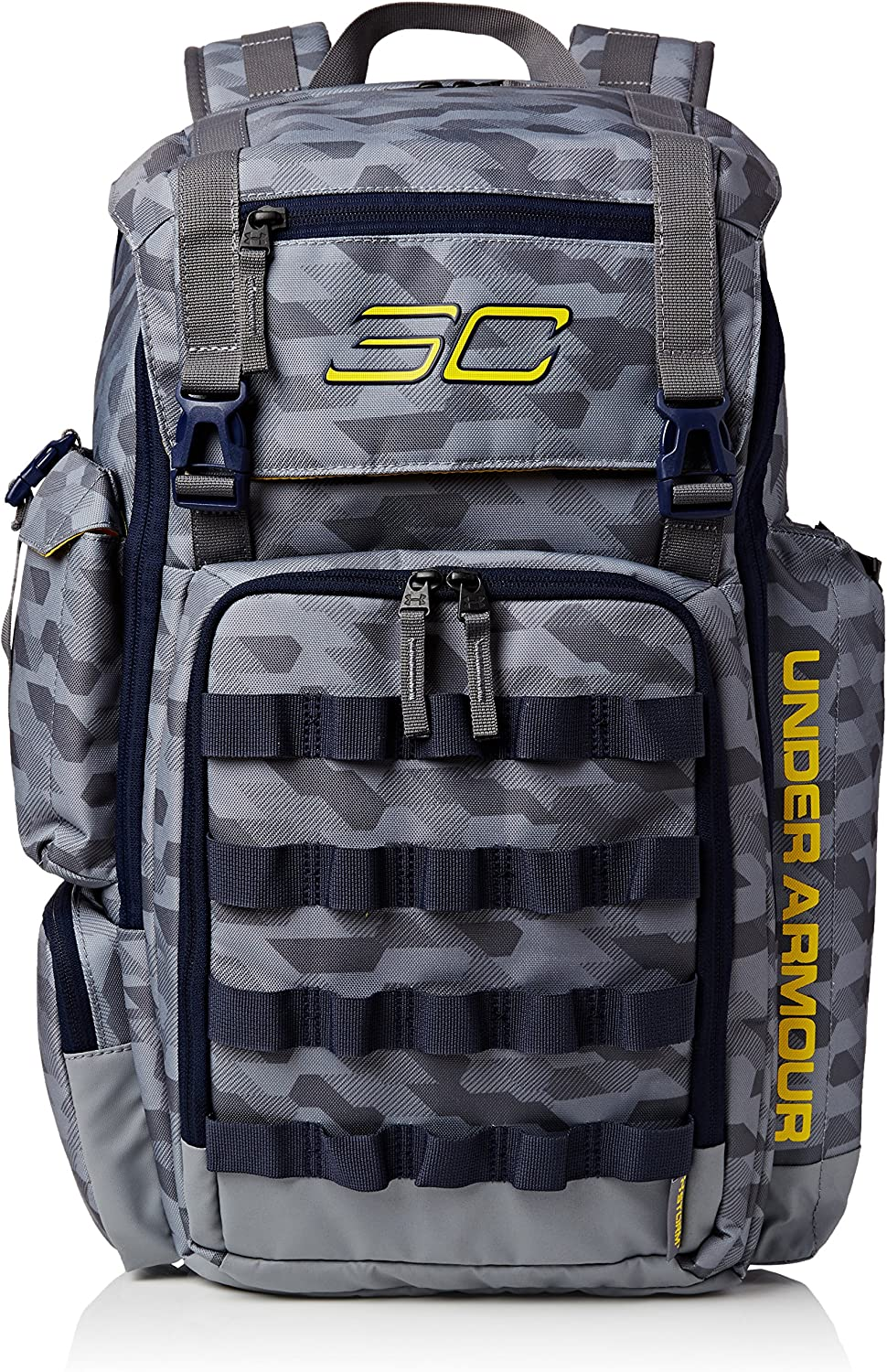 Men's Under Armour SC30 Backpack Basketball Bag Stealth Gray Midnight Navy Taxi Size One Size