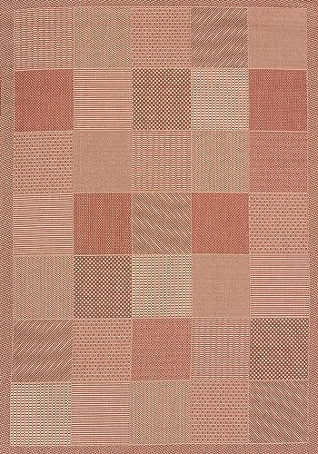 United Weavers of America Patio Block Area Rug, 2 7 x 4 2 , Terracotta