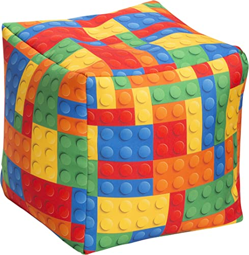 Cheap Gouchee Home Bricks Cube Collection Contemporary Polyester Upholstered Square Pouf/Ottoman ottoman chair for sale
