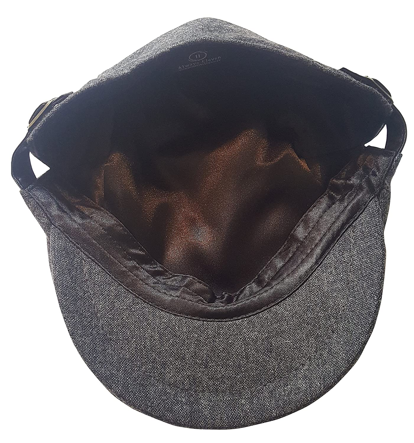 80ce09695ce Always Eleven Satin-Lined Newsboy Hat with Adjustable Side Buckles ...