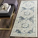 "Safavieh Evoke Collection EVK220C Vintage Oriental Ivory and Blue Runner (2'2"" x 7')"