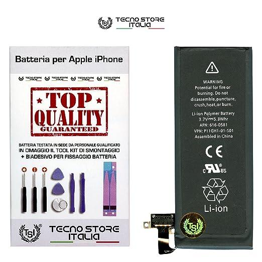 95 opinioni per TSI® Batteria di Ricambio per iPhone 4S, Capacità 1430mAh apn 616-0581/616-0582,