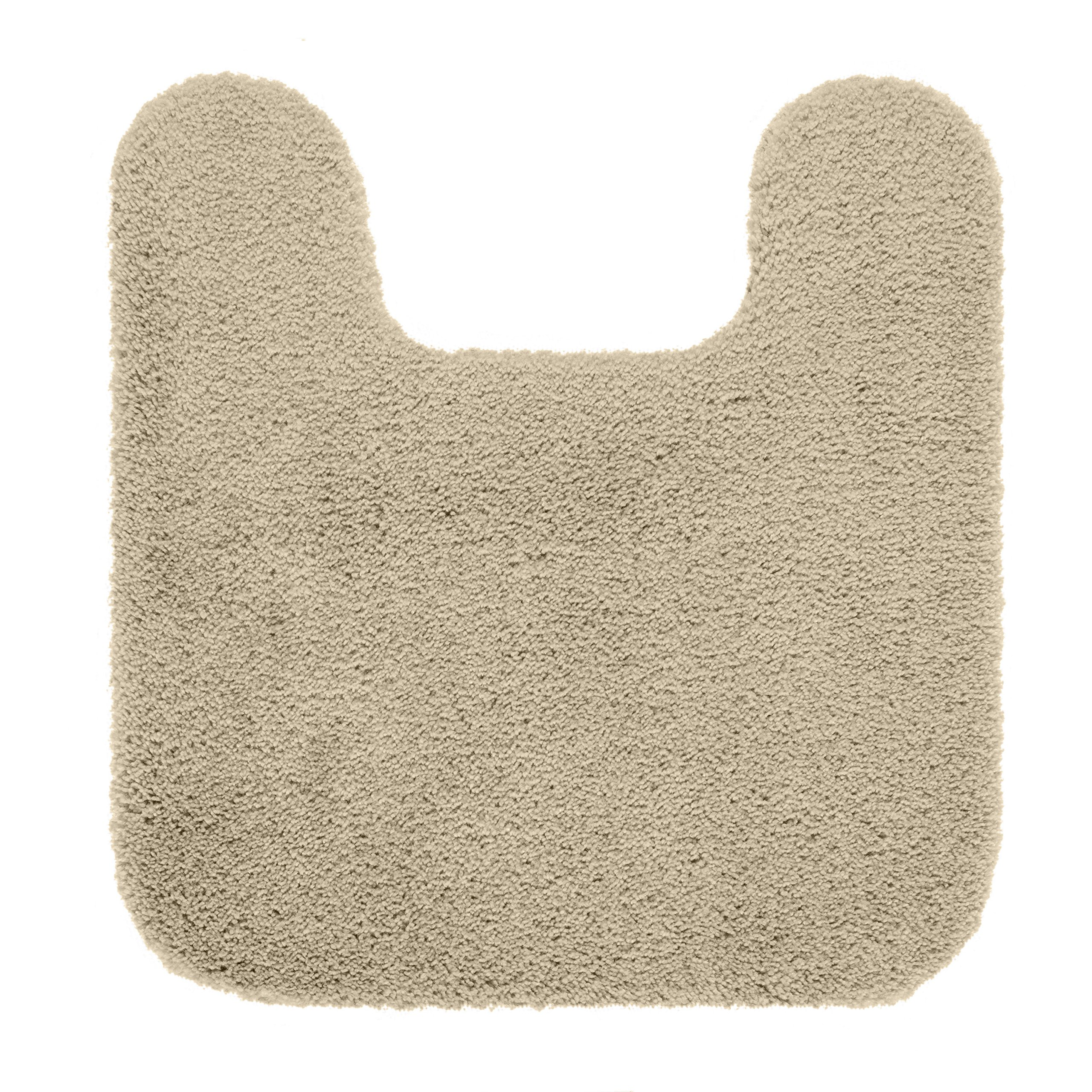 Maples Rugs Bathroom Rugs - Cloud Bath 20'' x 21.5'' Contour Non Slip Toilet Rug [Made in USA] Machine Washable Soft Bath Mat, Clay Beige