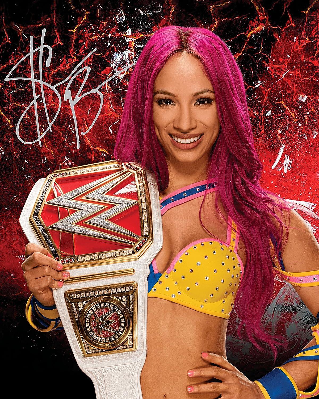 Sasha Banks WWE #2 | Foto de Laboratorio, reimpresión de Firma | Tamaño de 10x8 para Marcos de 10x8 Pulgadas | Calidad de Laboratorio | Exhibición de la Foto | Regalo Presente Coleccionable