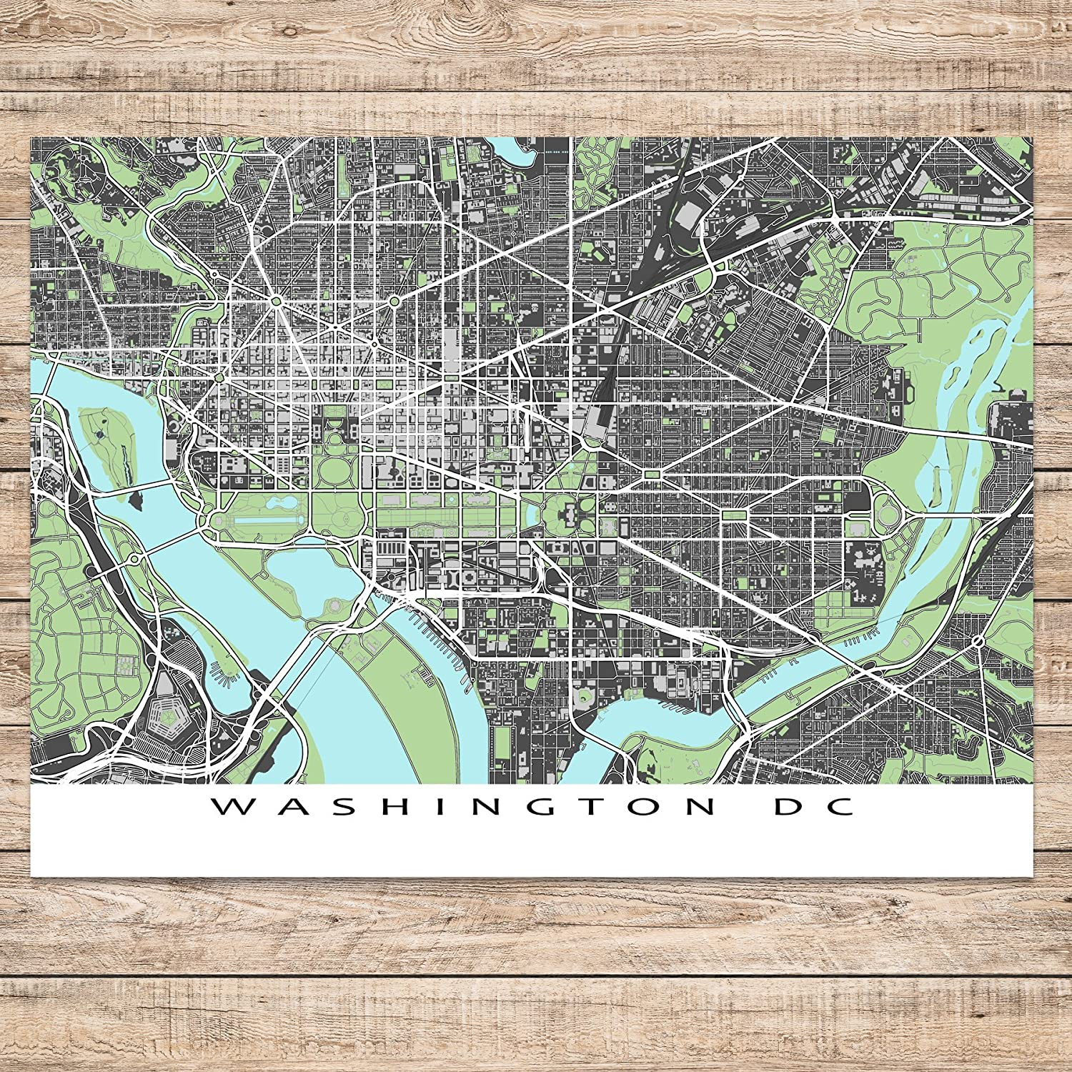 Amazon Com Washington Dc Map Print District Of Columbia Usa City
