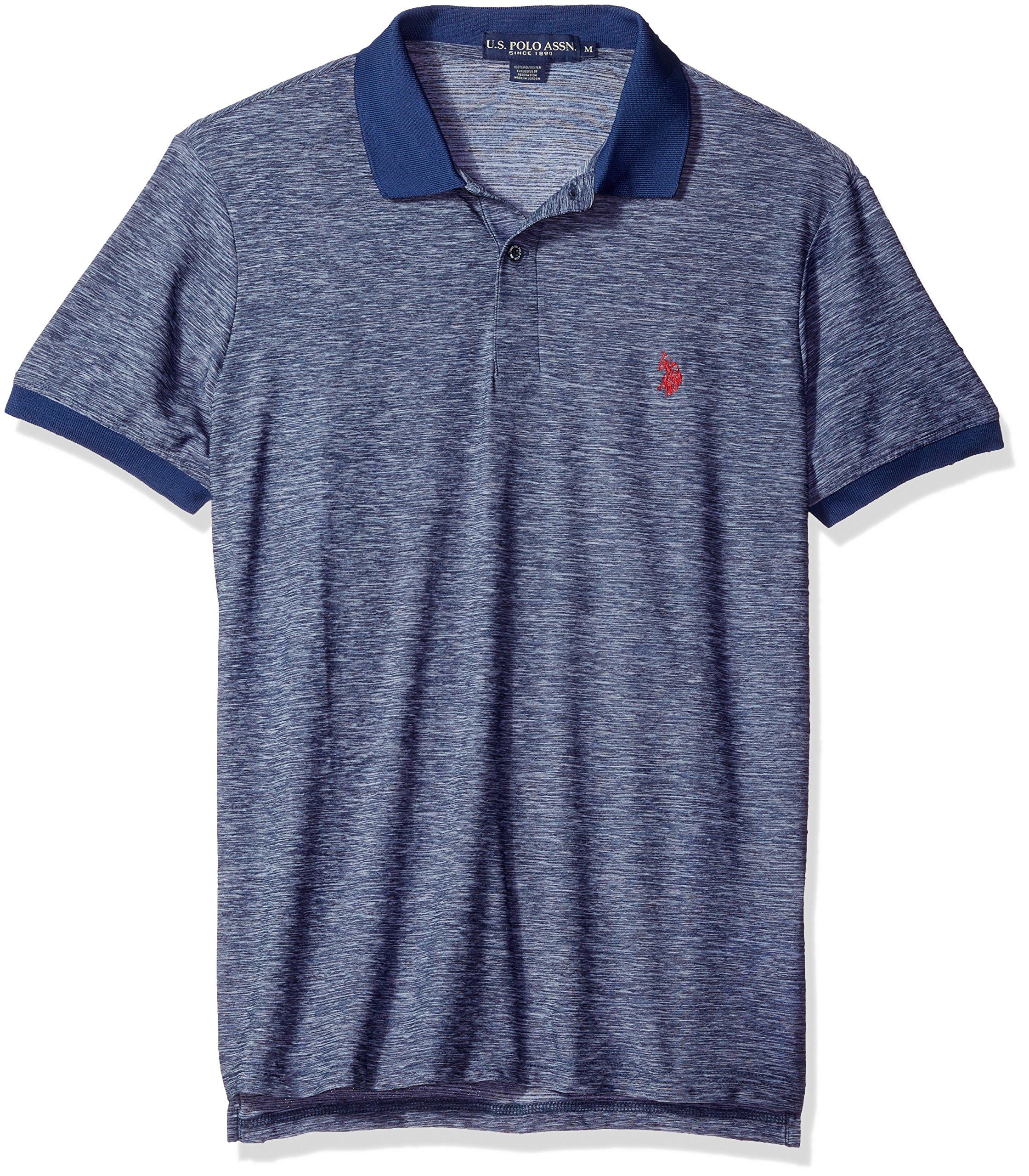 Mens Solid Short-Sleeve Pique Polo Shirt Polo Assn U.S