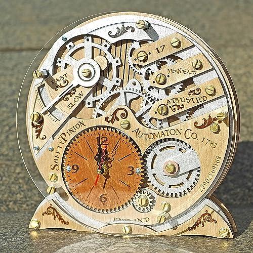 Automaton 1783 Wooden Decorative Table Clock, Unique Clock, Personalized  Gifts, Anniversary Gift,