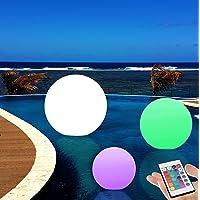 40cm Sphère LED Lumineuse Flottante IP67 - Lampe Rechargeable pour Piscine Jardin Extérieur RGB + Télécommande de PK Green