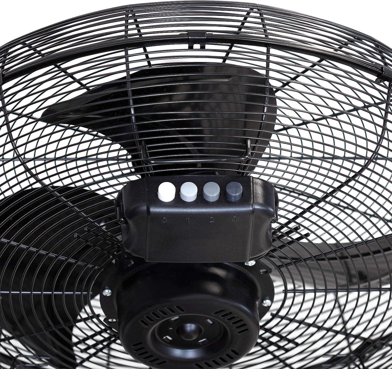 120 W Diametro 45 cm Nero inclinazione regolabile Ufesa 84104528 FF1450-Ventilatore industriale a piantana 3 velocit/à eliche di design flusso daria potente base antiscivolo