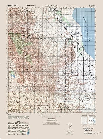 Agua Dulce California Map.Amazon Com Topographic Map Agua Dulce California Sheet Army