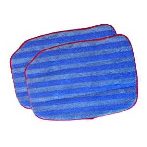 McCulloch A1375-100 Replacement Traditional Microfiber Mop Pad for MC1375, MC1385, 2-Pack