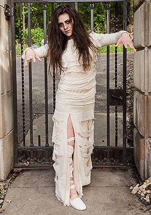 c6d05448e86 Amazon.com  Women s Plus Size Full Length Mummy Costume 1X White ...