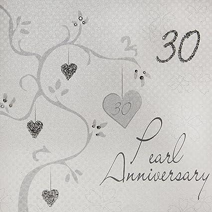 Anniversario Di Matrimonio 30.White Cotton Cards Album Fotografico Motivo Anniversario Di