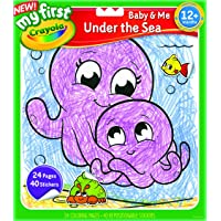 Crayola My First™ Color & Sticker Book Assortment, Learn to Colour Animals, 12 Months, 1 Year, 2 Years, Colouring Books