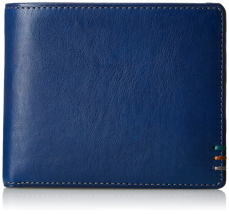 [コロレガーロ] 二つ折り札入れ イタリアンレザーがばっとシリーズ CXMW7AS3 B0728KSV3S ブルー ブルー