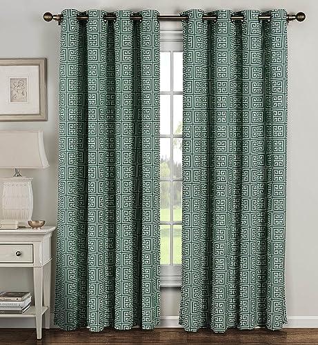 Window Elements Ancient Cotton Blend Extra Wide Grommet Curtain Panel Pair