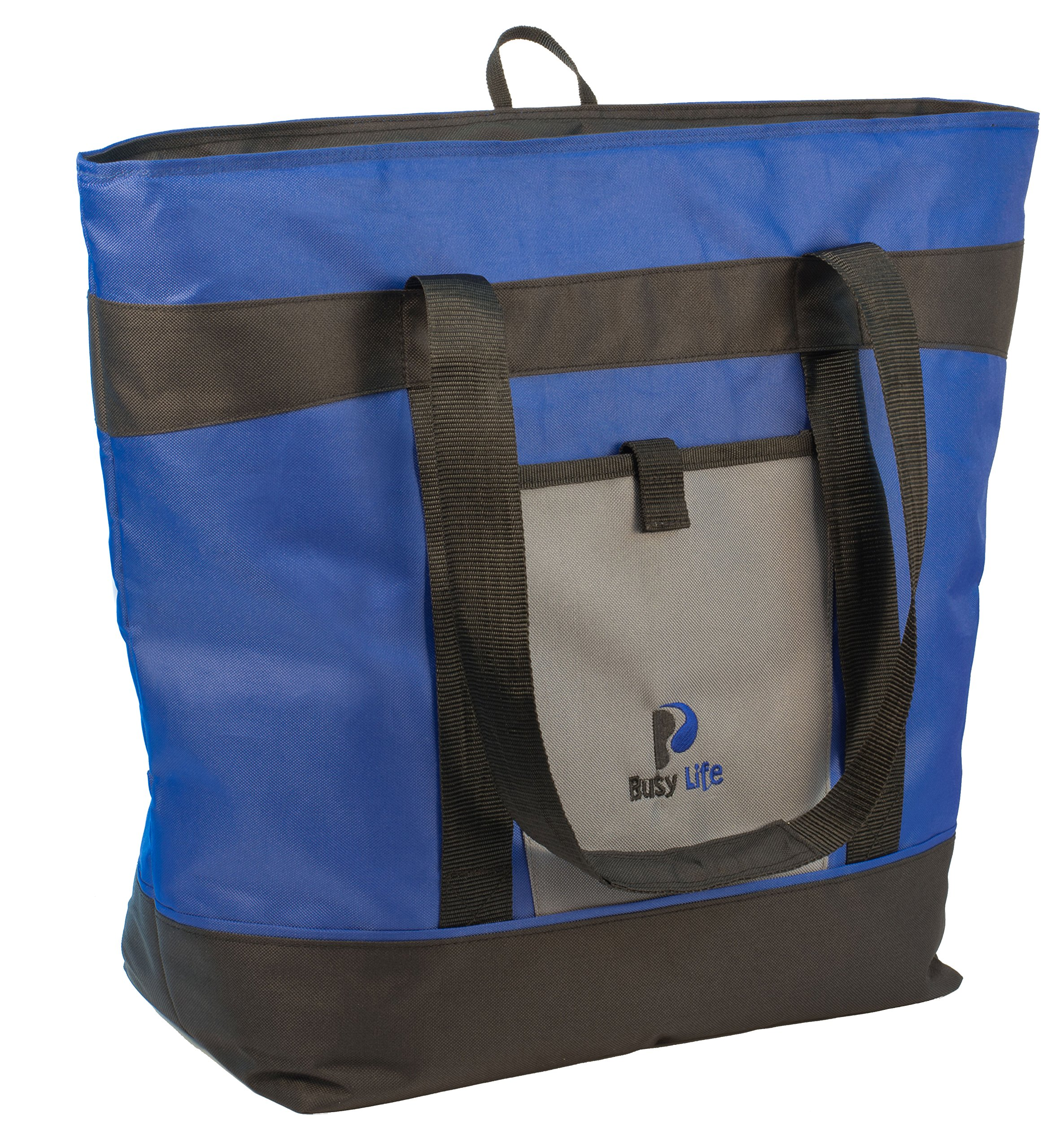 Insulated Cooler Bag Gift Pack. Busy Life Insulated Grocery Tote Perfect for Hot and Cold Food. Large 10 Gallon Capacity - Never Bring Home Melted Ice Cream Again. (4 Units) by Busy Life (Image #8)