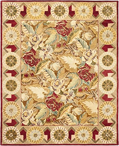 Safavieh Bergama Collection BRG106A Handmade Multicolored Premium Wool Area Rug 6' x 9'