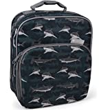 Insulated Durable Lunch Bag - Reusable Meal Tote with Handle and Pockets Sharks