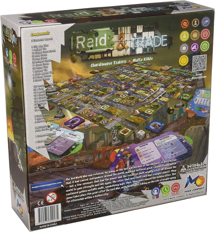 Amazon.com: Ninja Division Raid & Trade Board Game: Toys & Games