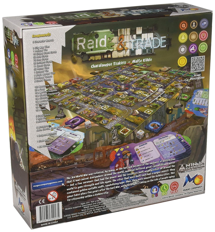 Ninja Division Raid /& Trade Board Game ESDC4 420101NJD