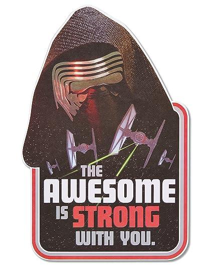 Amazon Jumbo Star Wars Birthday Card For Boy With Foil